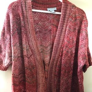 1XL short sleeve sweater cover up